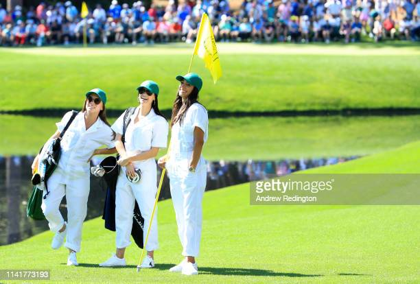 Annie Verret wife of Jordan Spieth of the United States Jillian Wisniewski girlfriend of Justin Thomas of the United States and Allison Stokke...