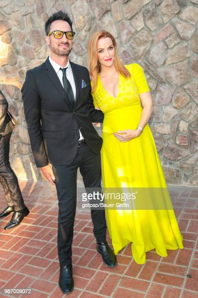 Annie Wersching and Stephen Full are seen on June 28 2018 in Los Angeles California