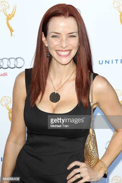 Annie Wersching arrives at the Television Academy Performers Nominee Reception for The 66th Emmy Awards held at Spectra by Wolfgang Puck at the...