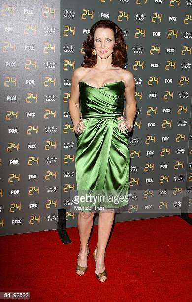 Annie Wersching arrives to the 150th episode and season 7 premiere party of '24' held at the XIV restaurant on January 6 2008 in Los Angeles...