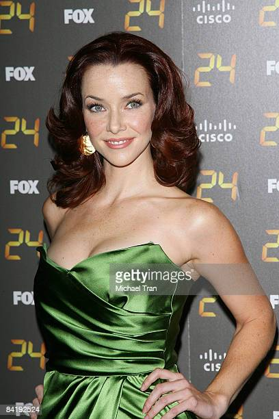 Annie Wersching arrives to the 150th episode and season 7 premiere party of 24 held at the XIV restaurant on January 6 2008 in Los Angeles California
