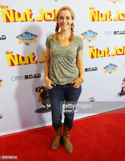"Annie Wersching arrives to the Los Angeles premiere of ""The Nut Job 2: Nutty By Nature"" held at Regal Cinemas L.A. Live on August 5, 2017 in Los..."