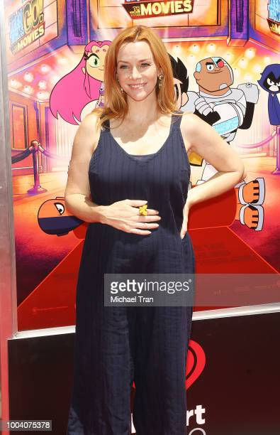 Annie Wersching arrives to the Los Angeles premiere of Warner Bros Animations' 'Teen Titans Go To The Movies' held at TCL Chinese Theatre IMAX on...