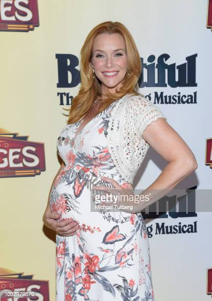 Annie Wersching attends the Los Angeles engagement of 'Beautiful The Carole King Music' at the Pantages Theatre on September 13 2018 in Hollywood...