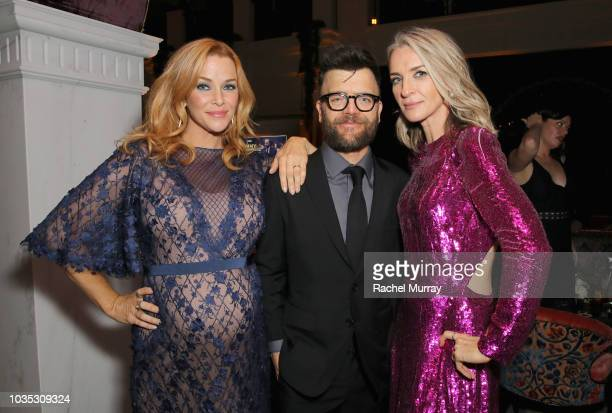 Annie Wersching Kevin Weisman and Ever Carradine attend Hulu's 2018 Emmy Party at Nomad Hotel Los Angeles on September 17 2018 in Los Angeles...