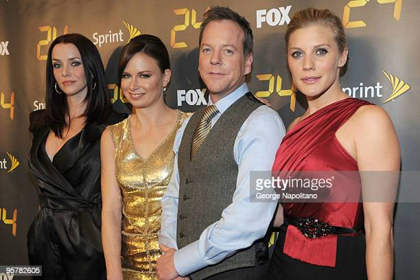 Annie Wersching Mary Lynn Rajskub Kiefer Sutherland and Katee Sackhoff attend the '24' Season 8 premiere at Jack H Skirball Center for the Performing...