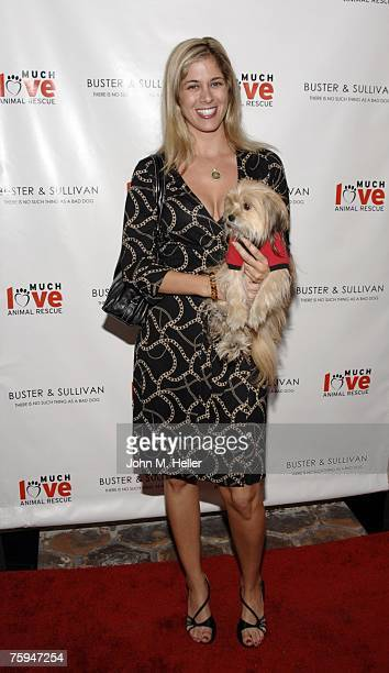 Annie Wood and Lucy attend the Grand Opening of Buster Sullivan an upscale Dog Boutique on August 2 2007 in Malibu California