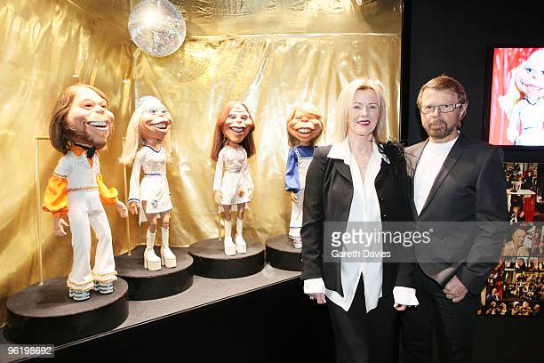 AnniFrid Lyngstad and Bjorn Ulvaeus at the ABBAWORLD Exhibition at Earls Court on January 26 2010 in London England