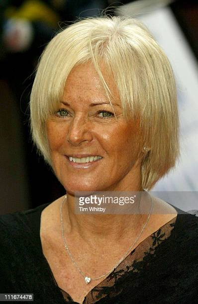 AnniFrid Lyngstad of ABBA during 'Mamma Mia The Musical' Celebrates Its Fifth Anniversary Arrivals at Prince Edward Theatre in London Great Britain