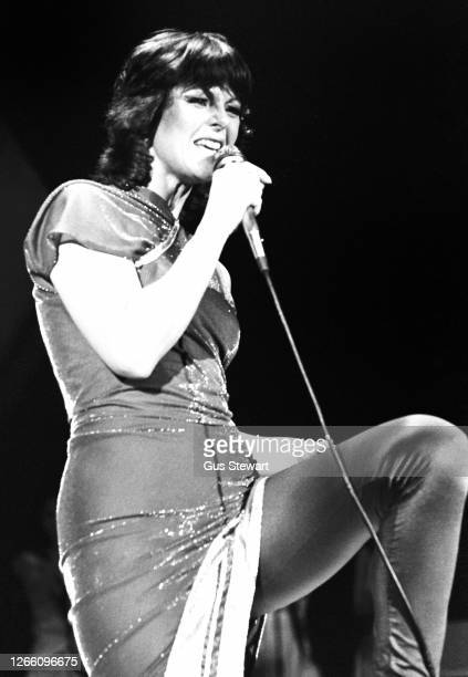 Anni-Frid Lyngstad of ABBA performs on stage at the Wembley Arena, London, England, on November 5th, 1979.