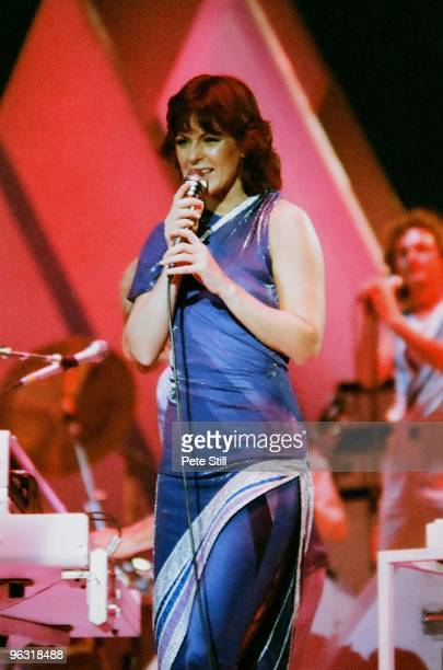 Anni-Frid Lyngstad of ABBA performs on stage at Wembley Arena on November 8th, 1979 in London, United Kingdom.