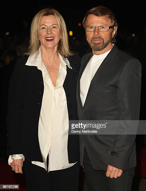 Annifrid Lyngstad Reuss and Bjorn Ulvaeus attend the opening of ABBAWORLD an interactive experience based on the career of Abba at Earls Court on...
