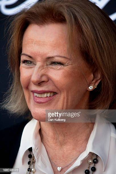 AnniFrid Reuss attends the opemning of the ABBA Museum on May 06 2013 in Stockholm Sweden