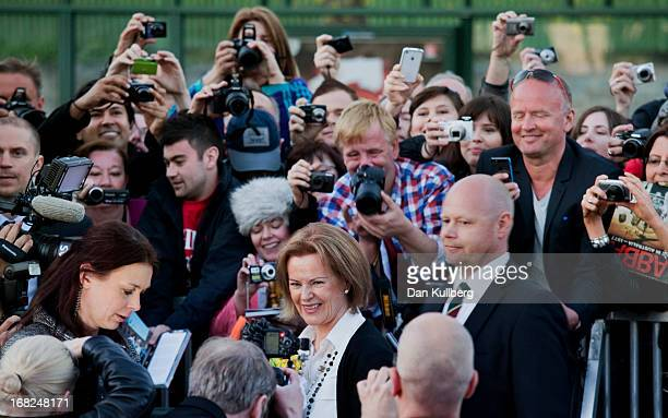 AnniFrid Reuss attends the opening of the ABBA Museum on May 06 2013 in Stockholm Sweden