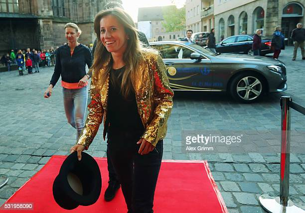 Annika Beck arrives for the Players' Party on day four of the Nuernberger Versicherungscup 2016 on May 17 2016 in Nuremberg Germany
