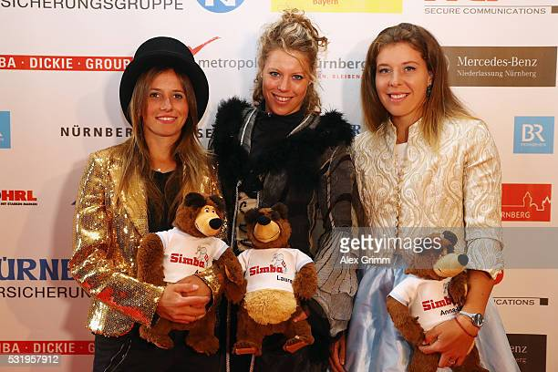 Annika Beck Laura Siegemund and AnnaLena Friedsam arrive for the Players' Party on day four of the Nuernberger Versicherungscup 2016 on May 17 2016...