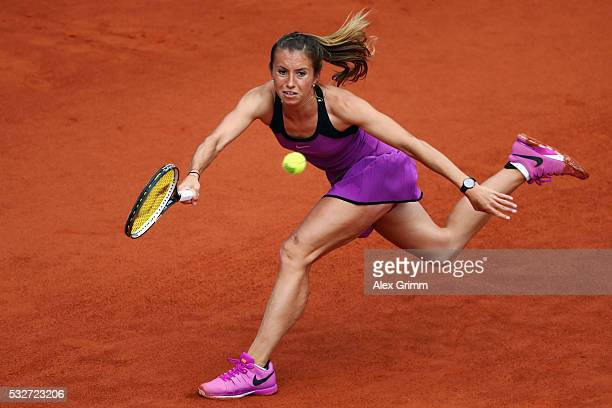 Annika Beck of Germany during her match against AnnaLena Friedsam of Germany during day six of the Nuernberger Versicherungscup 2016 on May 19 2016...