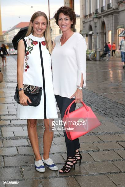 Annika Blendl and Alice Krueger wife of Hardy Krueger jr during the Bree 'Urban Showroom' store opening on June 7 2018 in Munich Germany The Bree...