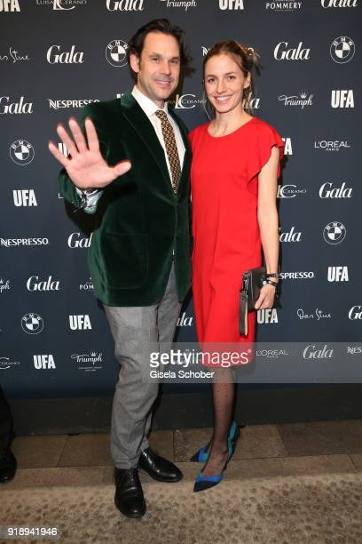 Annika Blendl and her boyfriend Alexander Beyer during the Berlin Opening Night by GALA and UFA Fiction at Das Stue on February 15 2018 in Berlin...