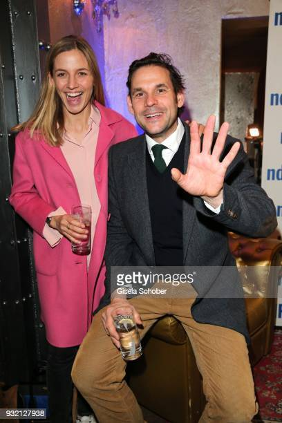 Annika Blendl and her boyfriend Alexander Beyer during the NdF after work press cocktail at Parkcafe on March 14 2018 in Munich Germany