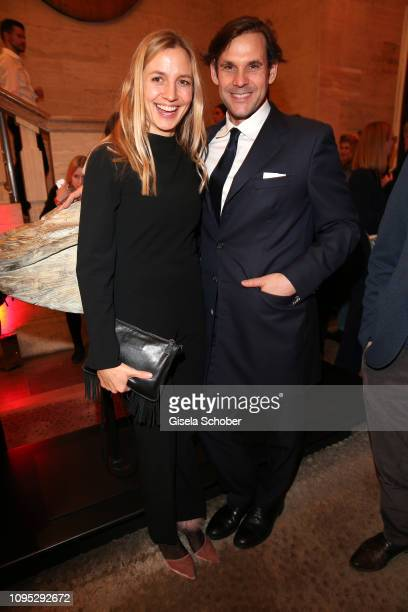Annika Blendl and her husband Alexander Beyer attend the Berlinale Opening Night by GALA UFA Fiction at Das Stue on February 07 2019 in Berlin Germany
