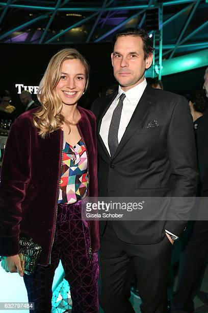 Annika Blendl and her partner Alexander Beyer during the 'A New York Minute' party hosted by Tiffany Co at BMW World on January 26 2017 in Munich...