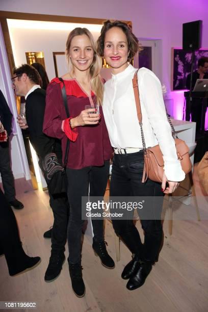Annika Blendl and Lara Joy Koerner during the La Maison Valmont opening on January 11 2019 in Munich Germany