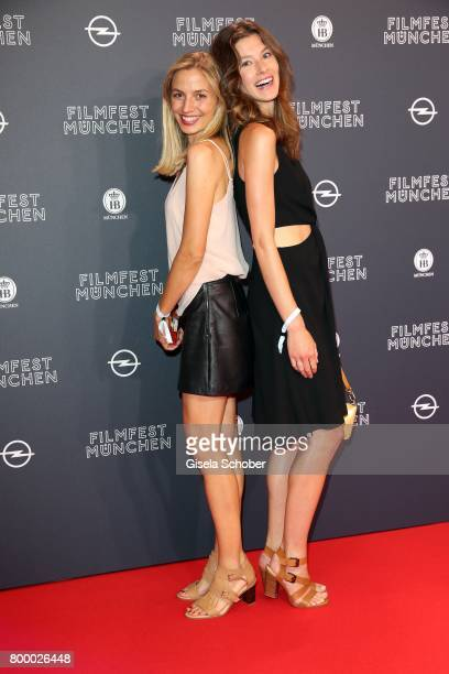 Annika Blendl and Leonie Stade during the opening night of the Munich Film Festival 2017 at Mathaeser Filmpalast on June 22 2017 in Munich Germany
