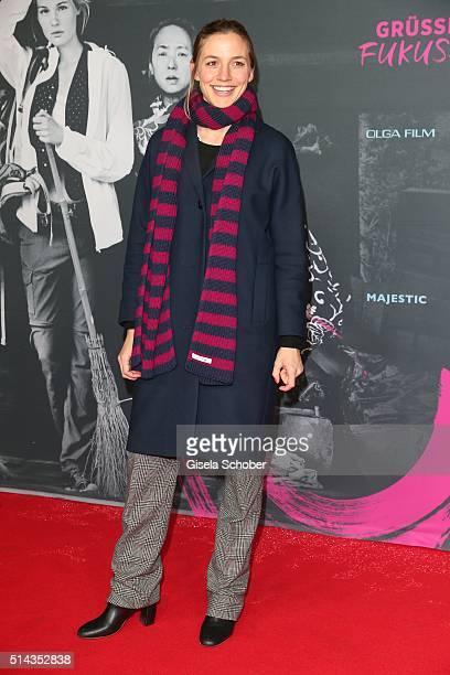 Annika Blendl during the Munich premiere of the film 'Gruesse aus Fukushima' at City Kino on March 8 2016 in Munich Germany