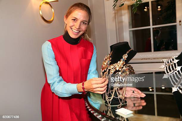 Annika Blendl during the Swarovski World Jewelry Facets exhibition at Villa Wagner on November 2 2016 in Munich Germany