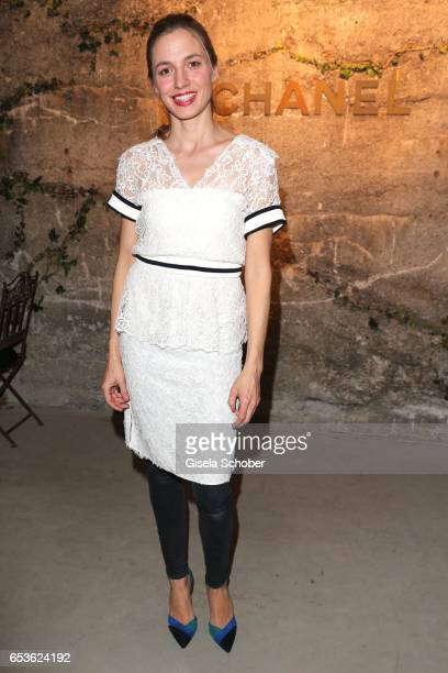 Annika Blendl wearing Chanel during the Chanel boutique opening party at Kohlebunker on March 15 2017 in Munich Germany