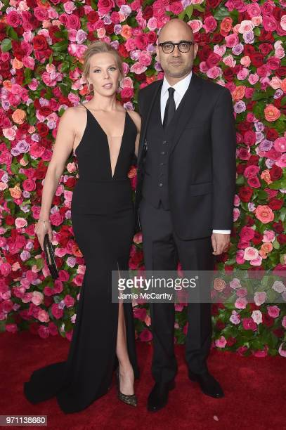 Annika Boras and Ayad Akhtar attend the 72nd Annual Tony Awards at Radio City Music Hall on June 10 2018 in New York City