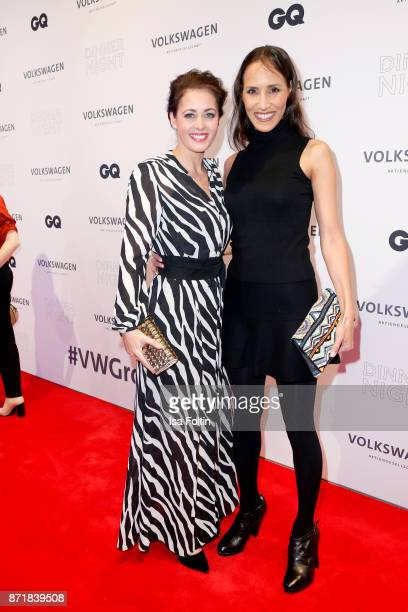 Annika de Buhr and Friederike Dirscherl attend the Volkswagen Dinner Night prior to the GQ Men of the Year Award 2017 on November 8 2017 in Berlin...
