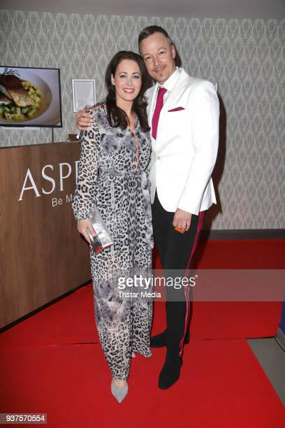 Annika de Buhr and Oliver Kresse during the Aspria BondParty on March 24 2018 in Hamburg Germany