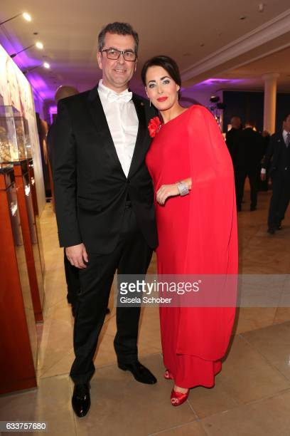 Annika de Buhr and Prof Gunnar Spellmeyer during the Semper Opera Ball 2017 reception at Hotel Taschenbergpalais Kempinski on February 3 2017 in...