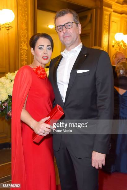 Annika de Buhr and Prof Gunnar Spellmeyer during the Semper Opera Ball 2017 at Semperoper on February 3 2017 in Dresden Germany