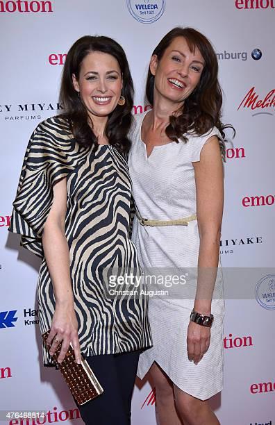Annika de Buhr and Sabrina Staubitz attend Emotion Award at the Laeiszhalle on June 9 2015 in Hamburg Germany