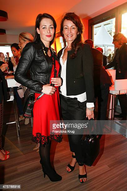 Annika de Buhr and Sabrina Staubitz attend the BurdaNews Night on June 03 2015 in Hamburg Germany