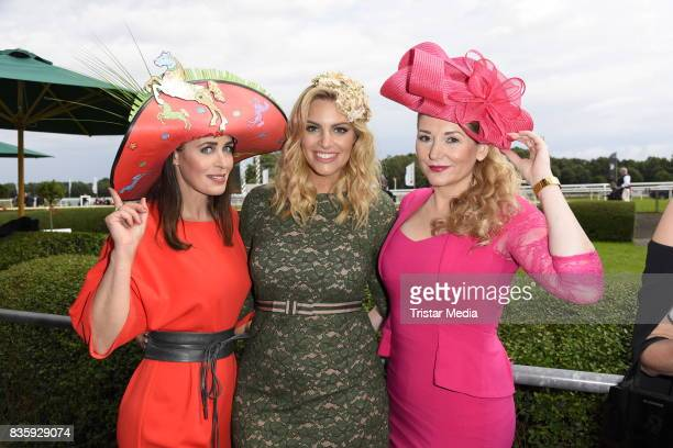 Annika de Buhr Angelina Kirsch and Sandra Quadflieg during the Audi Ascot Race Day 2017 on August 20 2017 in Hanover Germany