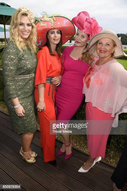 Annika de Buhr Angelina Kirsch Sandra Quadflieg and Hannelore Lay during the Audi Ascot Race Day 2017 on August 20 2017 in Hanover Germany