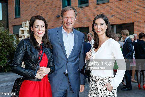 Annika de Buhr Gerhard Delling and Pinar Atalay attends the BurdaNews Night on June 03 2015 in Hamburg Germany