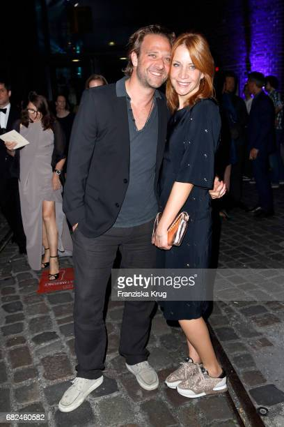 Annika Ernst and her husband Oliver Dressnandt during the GreenTec Awards at ewerk on May 12 2017 in Berlin Germany