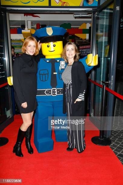 Annika Ernst and Tina Ruland attend the premiere of the film LEGO City Cops In Action at LEGOLAND Discovery Center Berlin on March 27 2019 in Berlin...