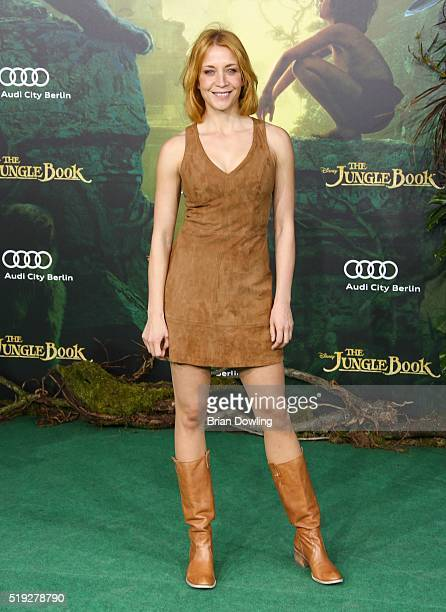 Annika Ernst arrives at Disney's 'The Jungle Book' premiere at the Zoo Palast on April 5 2016 in Berlin Germany