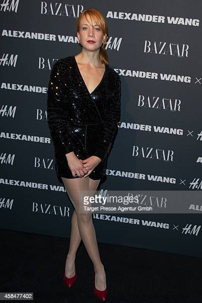 Annika Ernst attends the Alexander Wang X HM collection preshopping event at Platoon Kunsthalle on November 5 2014 in Berlin Germany