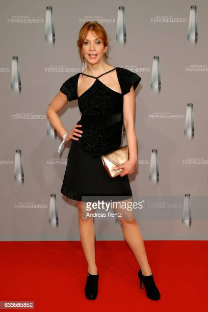 Annika Ernst wearing Karl Lagerfeld attends the German Television Award at Rheinterrasse on February 2 2017 in Duesseldorf Germany