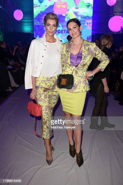 Annika Gassner and Dany Michalski attend the Sportalm show during Berlin Fashion Week Autumn/Winter 2020 at Kraftwerk Mitte on January 15 2020 in...