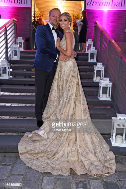 Annika Gassner and her boyfriend Istok Kespret attend the Dreamball 2019 at WECC - Westhafen Event & Convention Center on September 18, 2019 in...