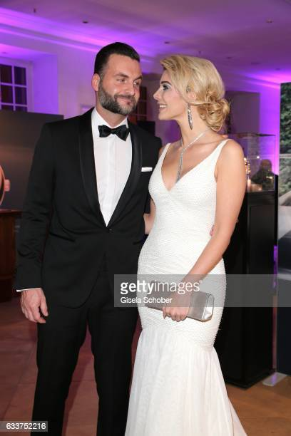 Annika Gassner and her boyfriend Ricardo Radowski during the Semper Opera Ball 2017 reception at Hotel Taschenbergpalais Kempinski on February 3 2017...