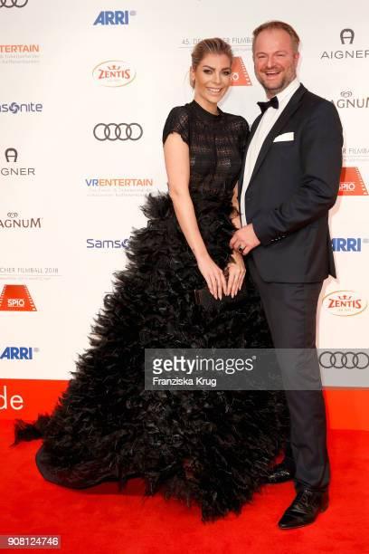 Annika Gassner and Istok Kespret attend the German Film Ball 2018 at Hotel Bayerischer Hof on January 20 2018 in Munich Germany